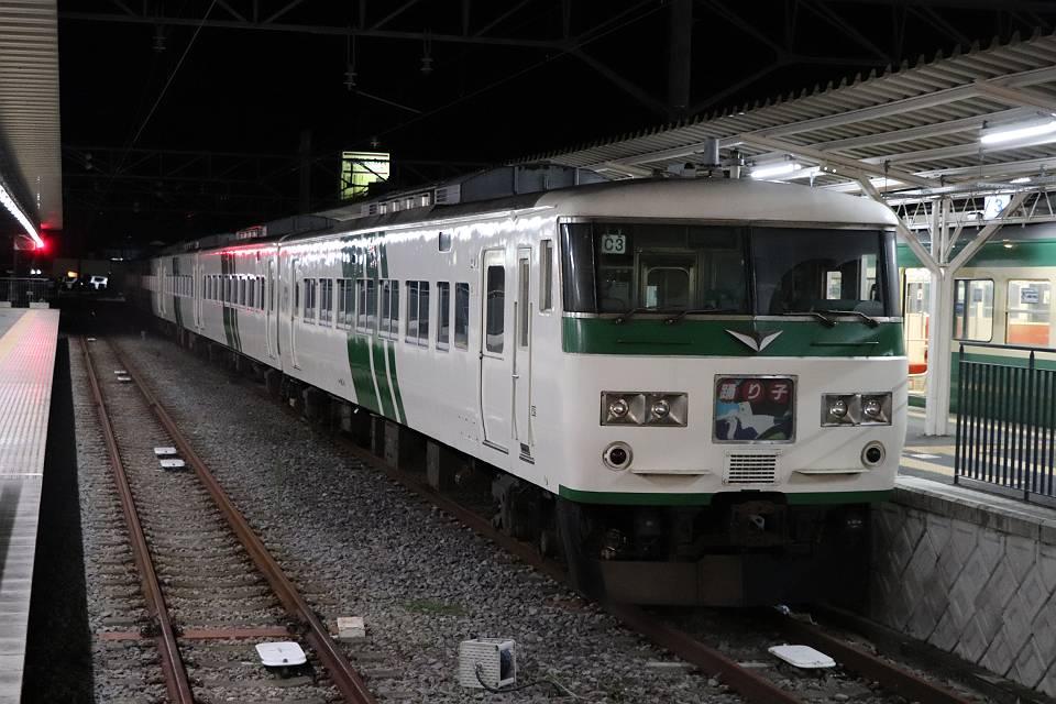 修善寺で夜間滞泊する国鉄特急型電車185系踊り子号: 線路端紀行あとがき